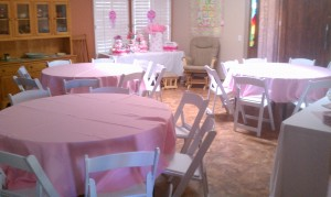 Baby Shower Tables and Chairs