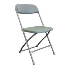 Plastic metal folding chair gray material plastic seat metal frame