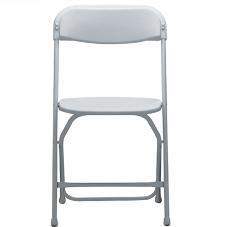 Plastic metal folding chair white material plastic seat metal frame